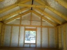 storage sheds with radiant barrier