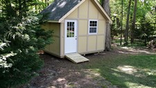 Custom shed to match home wake forest