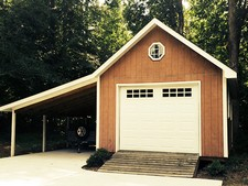 small garage with lean to raleigh