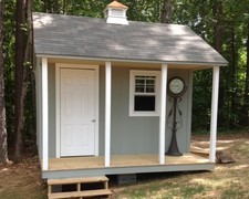 storage shed with porch & cupola holly springs