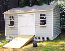 vinyl storage sheds with flower boxes willow spring
