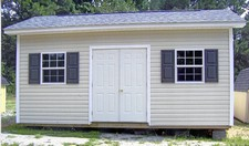 vinyl storage sheds with shutters apex