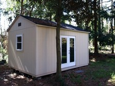 storage sheds with patio doors