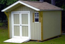 storage sheds with overhangs clayton