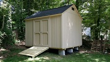 storage sheds built in unlevel yard angier